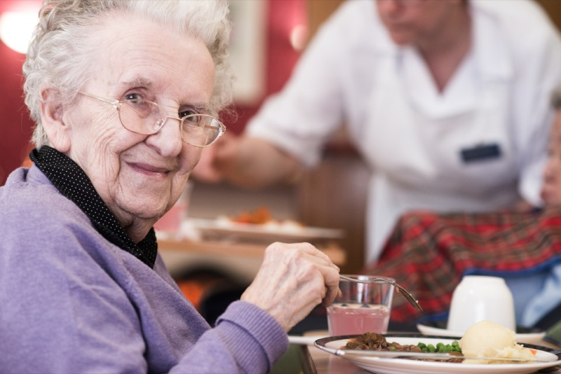 Clovenstone Care Home Resident (Bronze Food for Life Catering Mark award)
