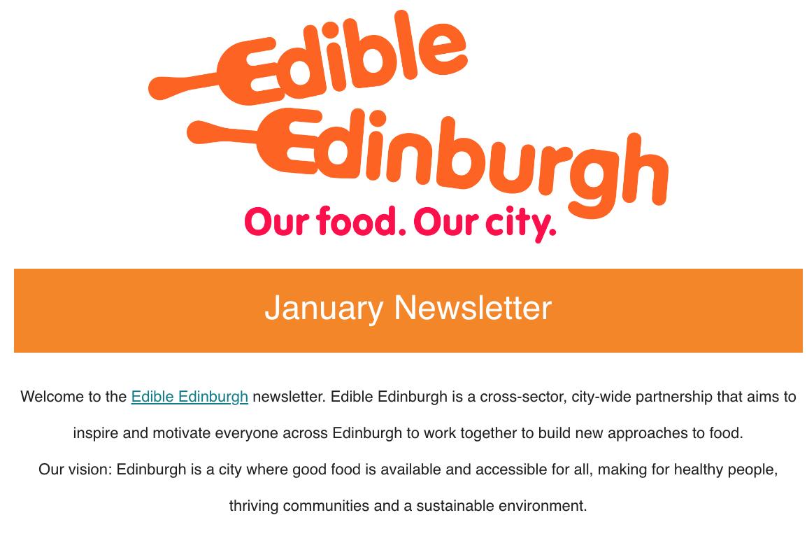 Edible Edinburgh January Newsletter