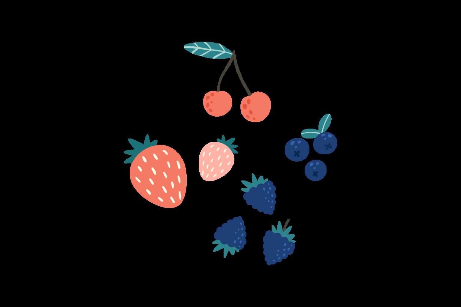Illustration of fresh berries